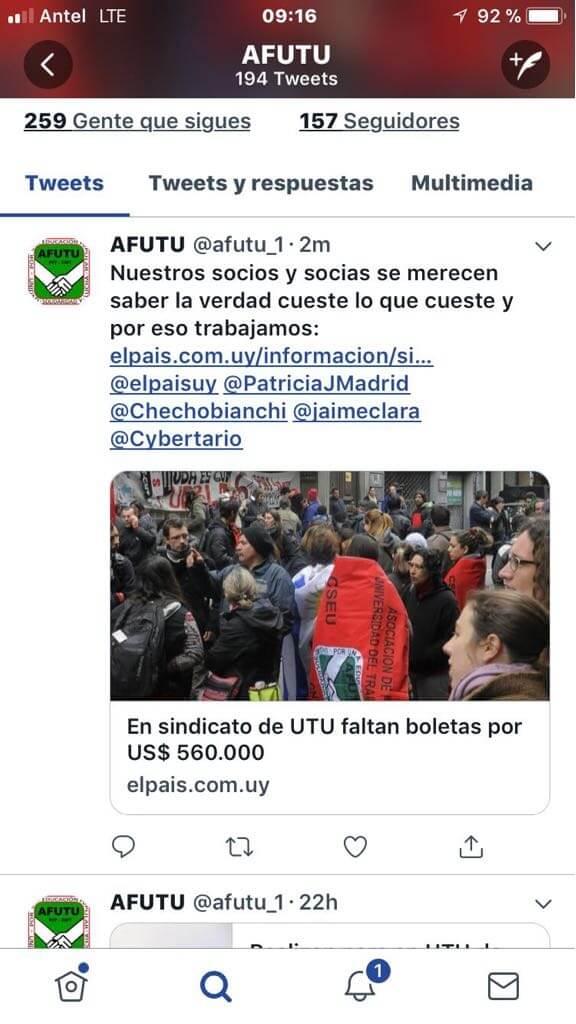 AFUTU: ¿De un sindicato a un club de socios?    Leonardo Flamia