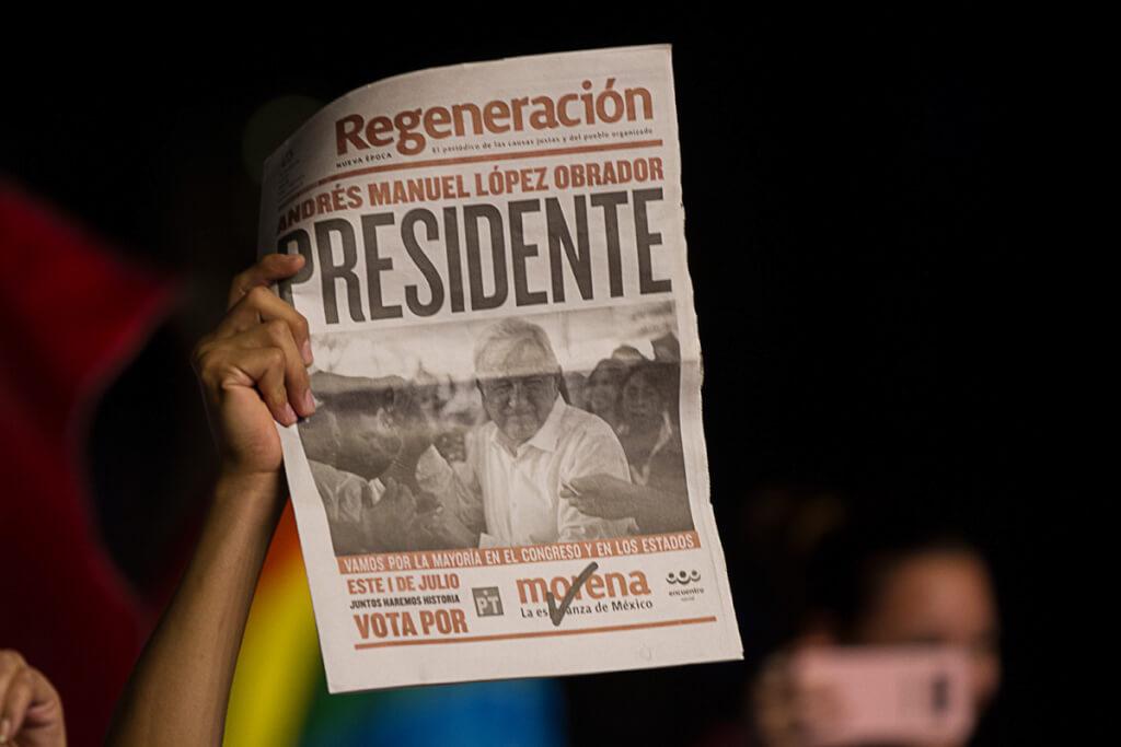 López Obrador, Arrasó por Ruben Montedónico