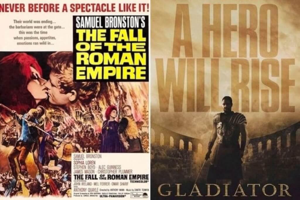 Gladiador versus La caída del imperio romano