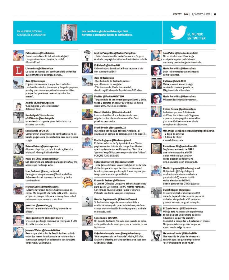 El mundo twitter